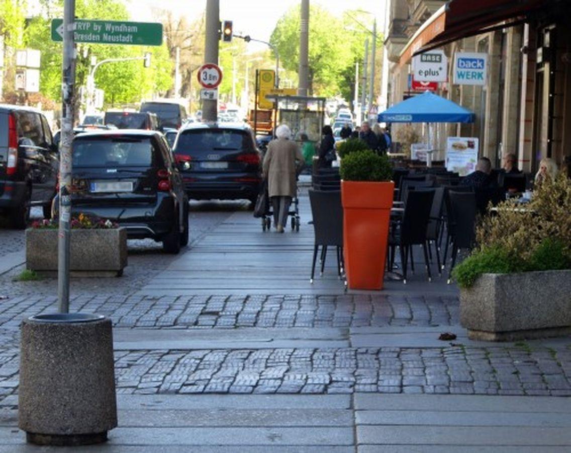 Für Fußgänger wird es leider etwas knapper.
