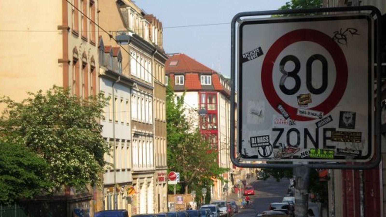 Tempo-80-Zone auf der Louisenstraße?