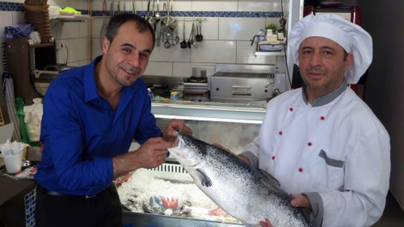 Frischer Fisch auf der Alaunstraße