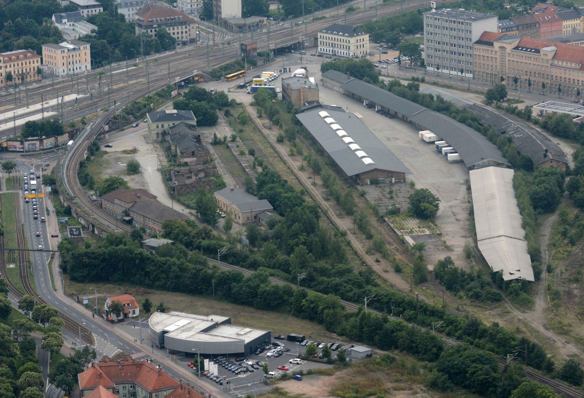 Luftbild vom Gelände, Foto: Dietrich Flechtner 2013