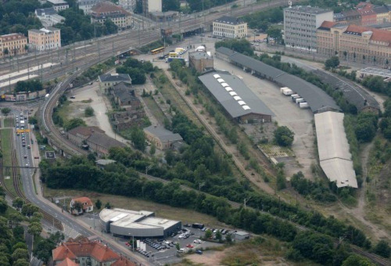 Luftbild vom Gelände, Foto: Dietrich Flechtner