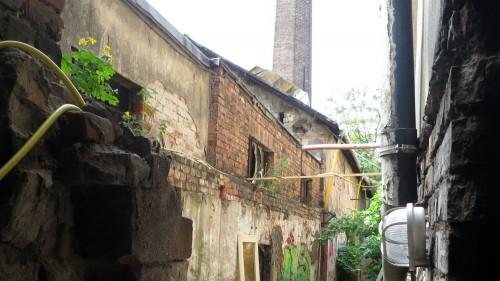 Auf dem Gelände befinden sich überwiegend Ruinen alter Werkstätten und Häuser.