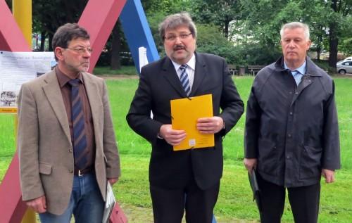 Die drei von der Baustelle: Koettnitz, Marx, Zieschank