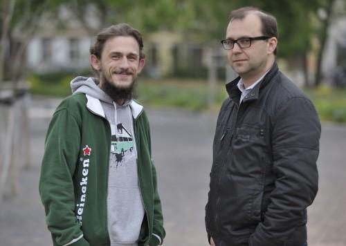 Das Gespräch mit Marcel Ritschel fand auf dem Alaunplatz statt.