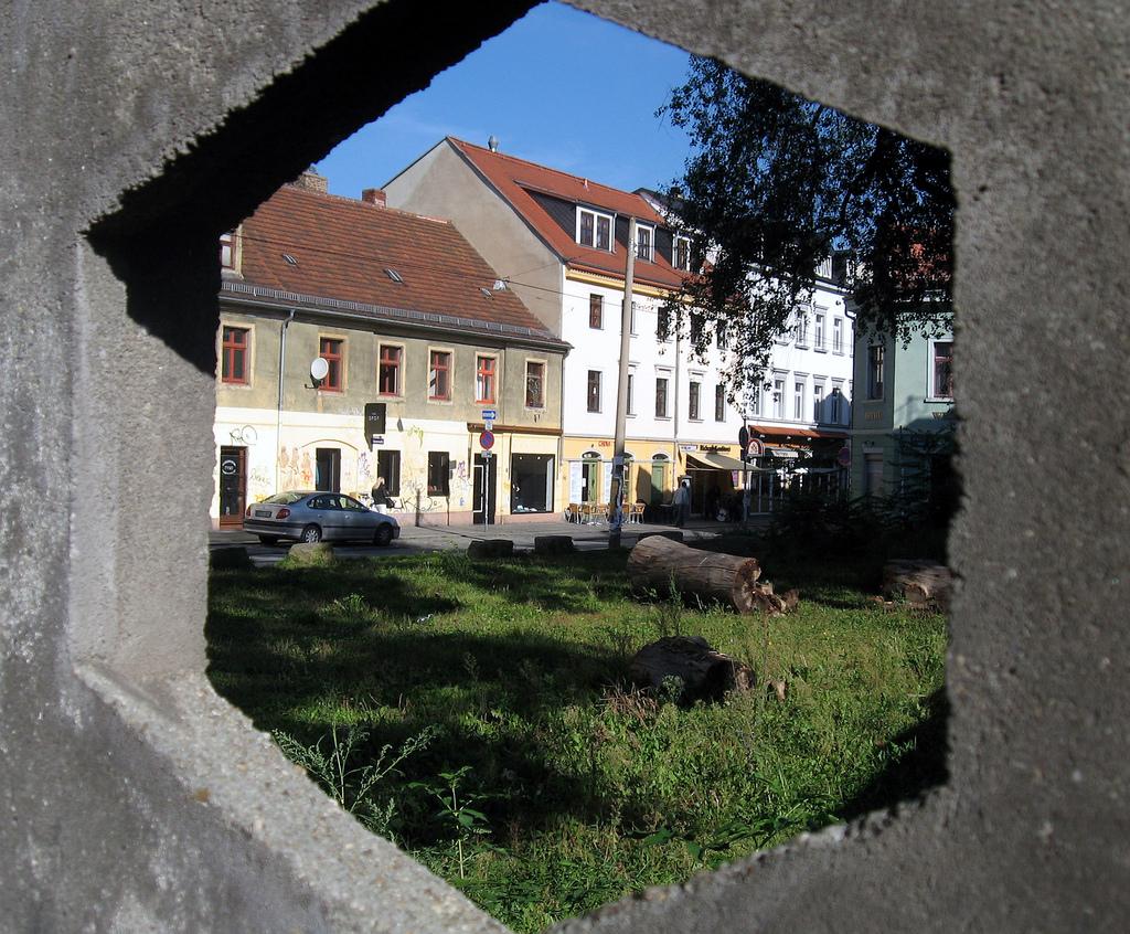 Idylle Alaunstraße vor der Sanierung