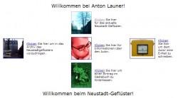So sah der erste Auftritt des Neustadt-Geflüsters 1999 aus.