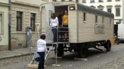 Toilettenwagen auf der Talstraße