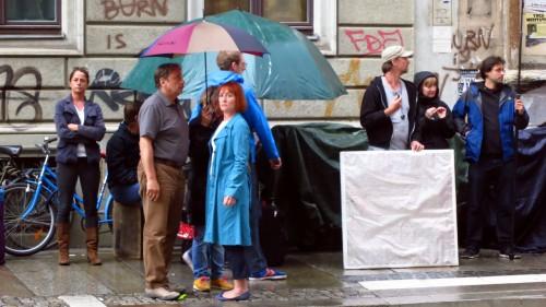 Wolfgang Stumph und Ulrike Krumbiegel kurz vor Drehbeginn