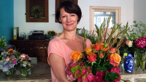 Manuela Jockusch im frisch umgestalteten Blumenladen am Bischofsweg.