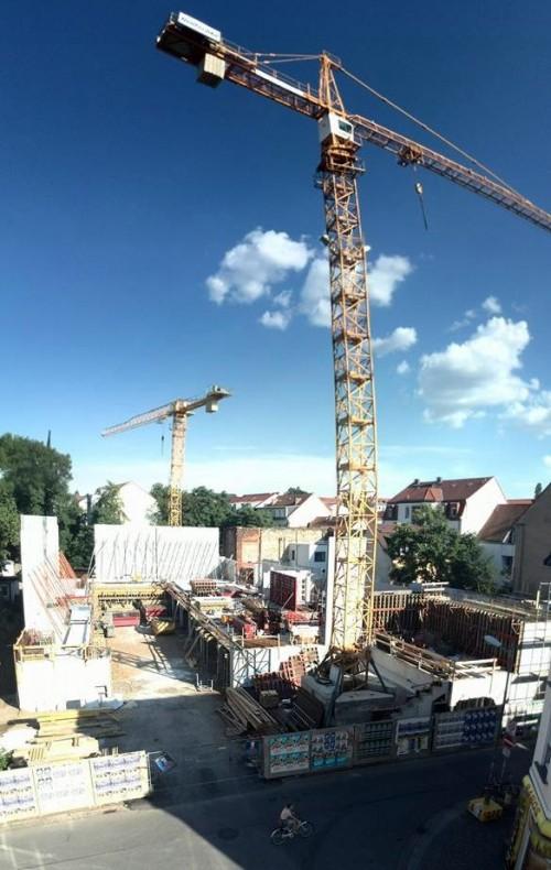 Turnhallenbau in Panorama-Optik. Danke an Alexander für das Foto.