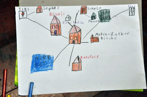 Neustadtkarte, handgezeichnet - Foto: Una Giesecke