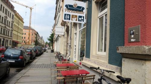 Die Pizzastube auf der unteren Hechtstraße.