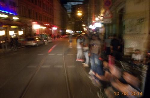 Die Ecke von der Straßenbahn aus gesehen.