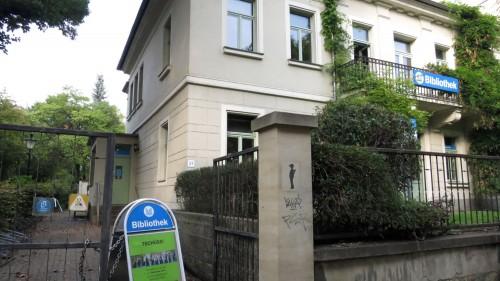 Die Bibliothek auf der Bautzner Straße ist geschlossen.