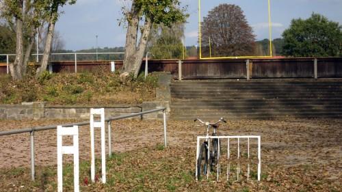 Die alte Radrennbahn ist jetzt Monarchs-Trainingsgelände