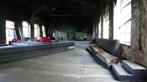 Die große Halle ist inzwischen wieder benutzbar.
