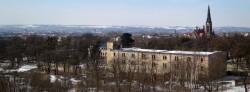 Die Albertstadt vom Dach der Melli-Beese-Schule aus gesehen. Foto: Archiv