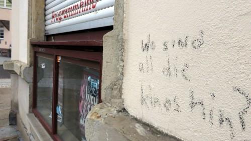 Graffiti an der Hauswand