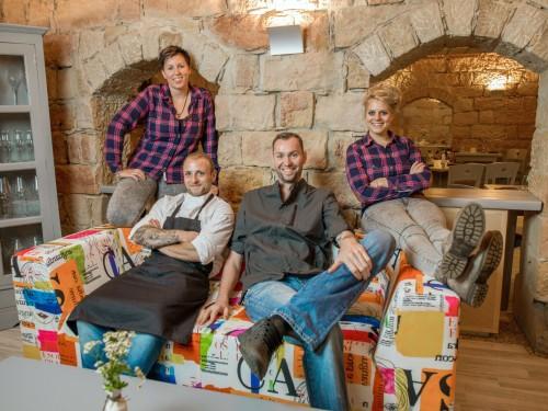 Das Team vom Genuss-Atelier: Nicole, Martin, Marcus und Lisa