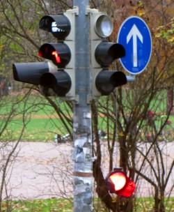 Ampel an der Görlitzer Straße wurde ausfällig. Foto: Gero
