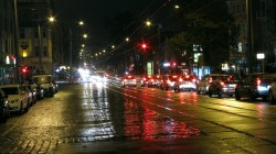 Königsbrücker Straße am frühen Abend