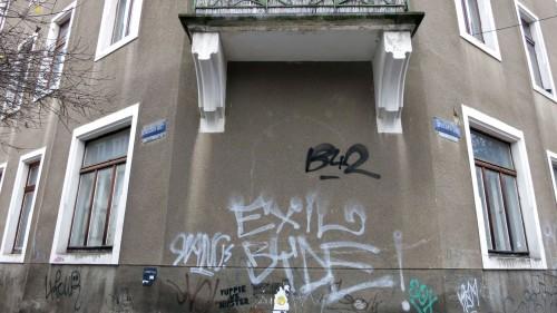 Am östlichen Ende macht die Buchenstraße einen Knick.