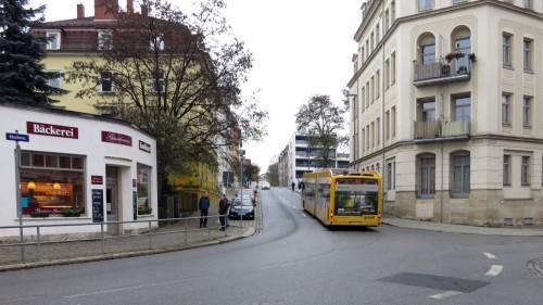 Bus auf der Buchenstraße