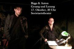 Biggs & Anton - Lesung, Gesang und Klampfe