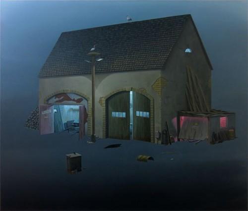 André Schulze - Werkstatt 2013, Öl auf Leinwand, 130 × 150 cm