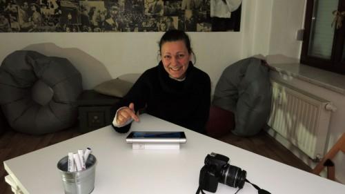 Medienpädagogin Peggy Koedel ist vor der Eröffnung ziemlich aufgeregt.
