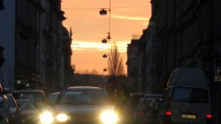 Sonnenaufgang auf der Louisenstraße