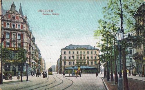 So saht die Bautzner Straße übrigens an dieser Stelle früher einmal aus.