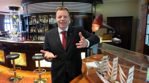 Hoteldirektor Ralf J. Kutzner am Donnerstag im Talk in der Pastamanufaktur.