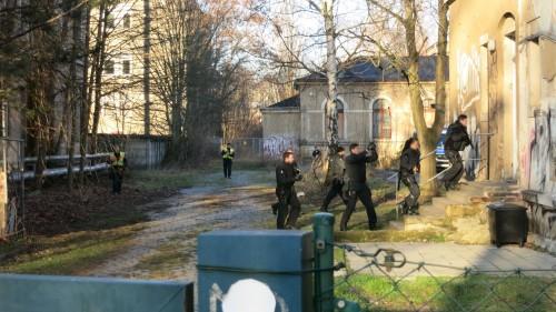 Polizeieinsatz an der Königsbrücker Straße