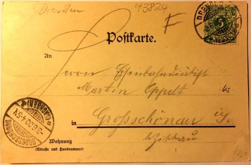 Abgestempelt am 3. Juni 1900
