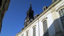 """In der Dreikönisgkirche befindet sich das berühmte Steinrelief """"Dresdner Totentanz"""" - Namensgeber u.a. für das Tanzstück von DEREVO"""