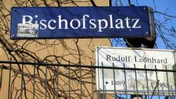 Bewegt Kreuzung: der Bischofsplatz
