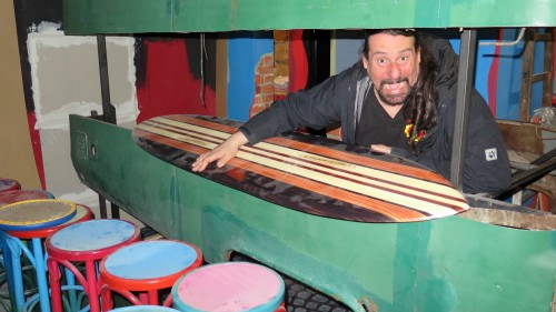 André Streng in der künftigen Cocktailbar.