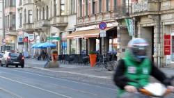 Café Europa an der Königsbrücker Straße.