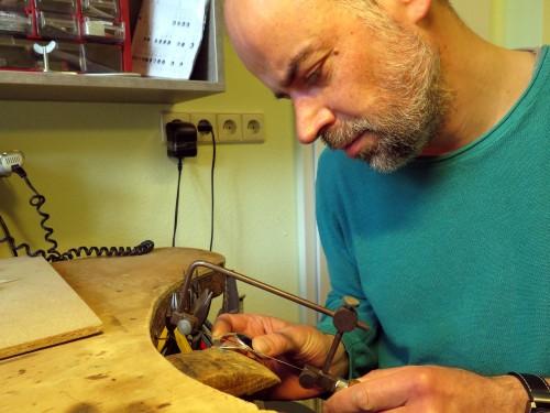 Harald Günther bei der Arbeit.