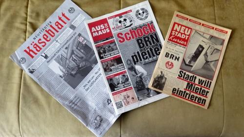 BRN-Zeitungen vergangener Tage