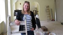 Wird hier ab Mitte Juni Kuchen und Brötchen verkaufen: Caroline Heller
