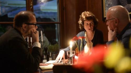 Eva-Maria Stange im Gespräch mit Jan Frintert und Winfried Schenk - Foto: dehli-news.de