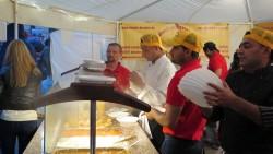 Voll in Aktion, indische Köche vorm Jaipur.