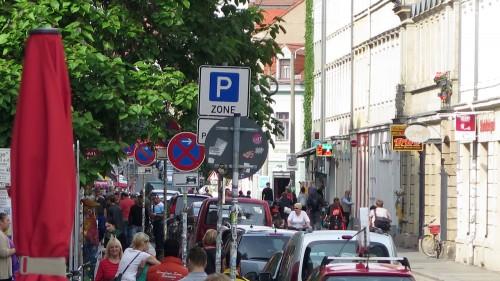 Parkzonenschild auf der Alaunstraße