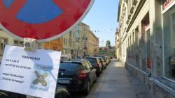 Halteverbot auf Schönbrunn- und Schwepnitzer Straße