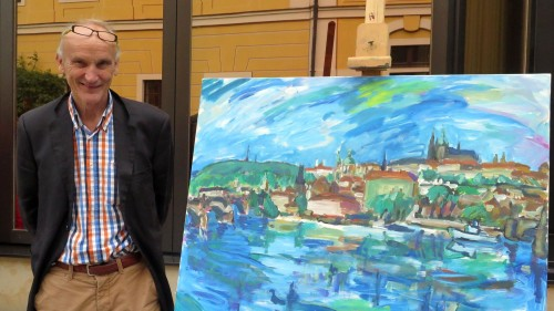 Roland Gräfe unterstützt die Ausstellung mit seiner Stiftung