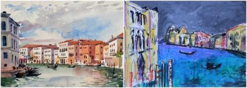 "Herbert Müller ""Venedig (Canale Grande)"" - Ernst Hassebrauk ""Venedig-Adaption"""