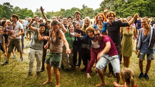 So sieht die Band ihre Fans, Foto vom vergangenen Sonntag vom Regen-Konzert auf dem Alaunplatz