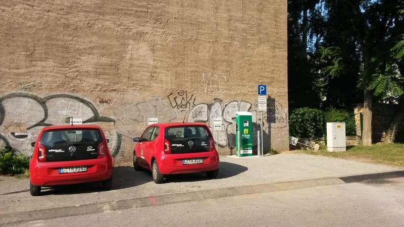 Stromtankstelle an der Einfahrt zur Seifhennersdorfer Straße